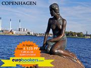 Book cheap Copenhagen city breaks 3 nts fr £177 PP