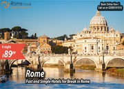 Hotel deals in Rome Italy - 4 Nights in 3* Rome Hotels from £ 89 PP
